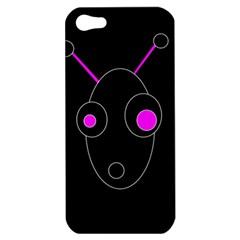 Purple alien Apple iPhone 5 Hardshell Case