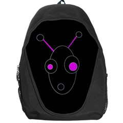 Purple alien Backpack Bag