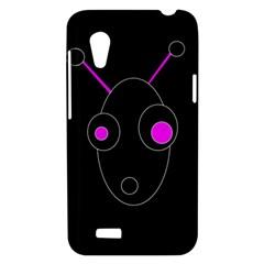 Purple alien HTC Desire VT (T328T) Hardshell Case