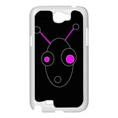 Purple alien Samsung Galaxy Note 2 Case (White)