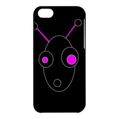 Purple alien Apple iPhone 5C Hardshell Case