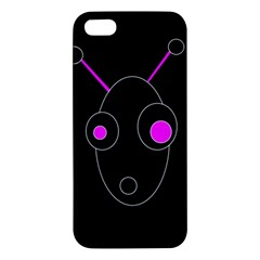 Purple alien iPhone 5S/ SE Premium Hardshell Case
