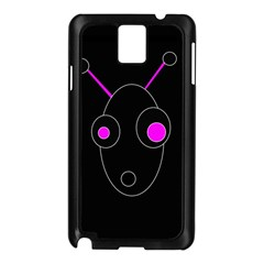 Purple alien Samsung Galaxy Note 3 N9005 Case (Black)
