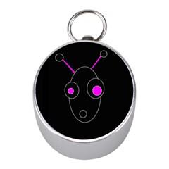 Purple alien Mini Silver Compasses