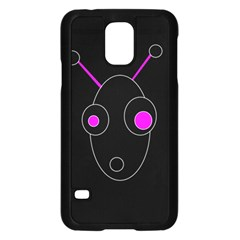 Purple alien Samsung Galaxy S5 Case (Black)