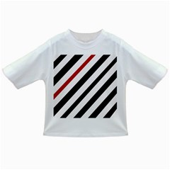 Red, black and white lines Infant/Toddler T-Shirts