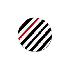 Red, black and white lines Golf Ball Marker