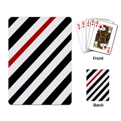 Red, black and white lines Playing Card