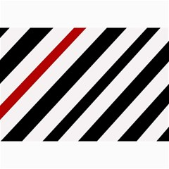 Red, black and white lines Collage Prints