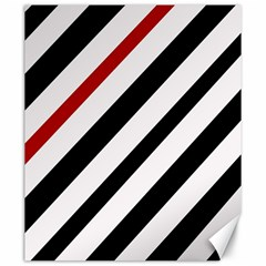 Red, black and white lines Canvas 20  x 24