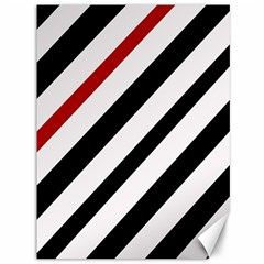 Red, black and white lines Canvas 36  x 48