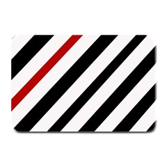 Red, black and white lines Plate Mats