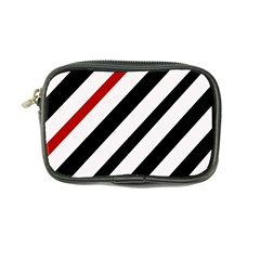 Red, black and white lines Coin Purse