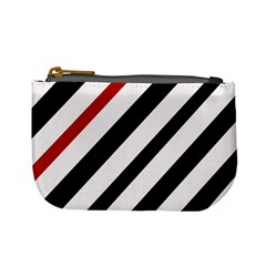 Red, black and white lines Mini Coin Purses
