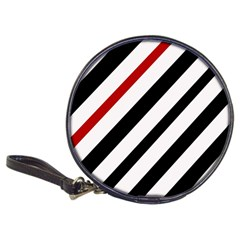 Red, black and white lines Classic 20-CD Wallets