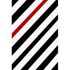 Red, black and white lines 5.5  x 8.5  Notebooks