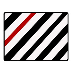 Red, black and white lines Fleece Blanket (Small)