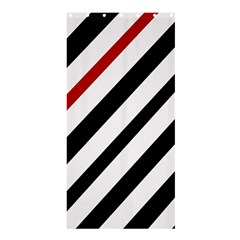 Red, black and white lines Shower Curtain 36  x 72  (Stall)