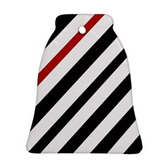 Red, black and white lines Bell Ornament (2 Sides)