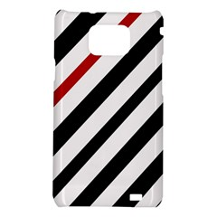Red, black and white lines Samsung Galaxy S2 i9100 Hardshell Case