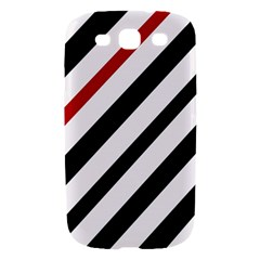 Red, black and white lines Samsung Galaxy S III Hardshell Case