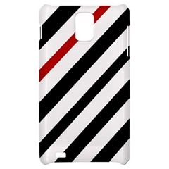 Red, black and white lines Samsung Infuse 4G Hardshell Case