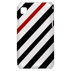 Red, black and white lines Samsung Galaxy S i9000 Hardshell Case