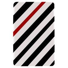 Red, black and white lines Kindle Fire (1st Gen) Hardshell Case