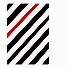 Red, black and white lines Small Garden Flag (Two Sides)