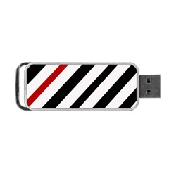 Red, black and white lines Portable USB Flash (Two Sides)