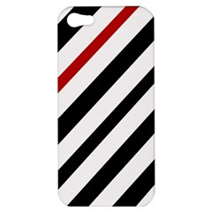 Red, black and white lines Apple iPhone 5 Hardshell Case