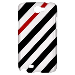 Red, black and white lines Samsung Galaxy Note 2 Hardshell Case