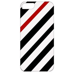 Red, black and white lines Apple iPhone 5 Classic Hardshell Case