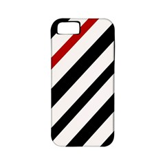 Red, black and white lines Apple iPhone 5 Classic Hardshell Case (PC+Silicone)