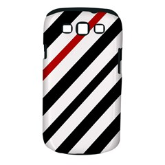 Red, black and white lines Samsung Galaxy S III Classic Hardshell Case (PC+Silicone)