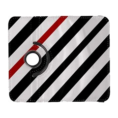 Red, black and white lines Samsung Galaxy S  III Flip 360 Case