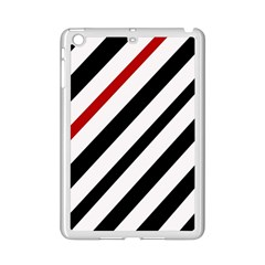Red, black and white lines iPad Mini 2 Enamel Coated Cases