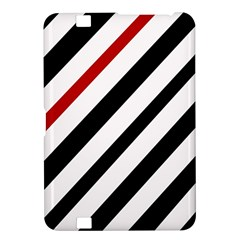 Red, black and white lines Kindle Fire HD 8.9
