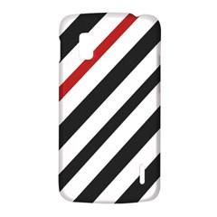 Red, black and white lines LG Nexus 4