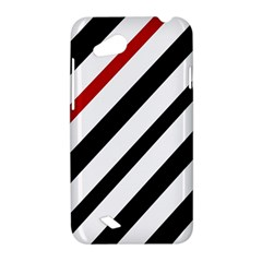 Red, black and white lines HTC Desire VC (T328D) Hardshell Case
