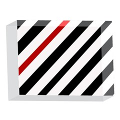 Red, black and white lines 5 x 7  Acrylic Photo Blocks