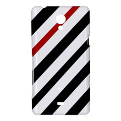 Red, black and white lines Sony Xperia T