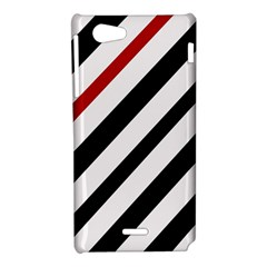 Red, black and white lines Sony Xperia J
