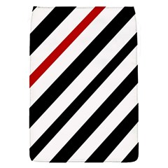 Red, black and white lines Flap Covers (S)