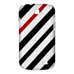 Red, black and white lines Samsung Galaxy Express I8730 Hardshell Case
