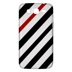 Red, black and white lines Samsung Galaxy Mega 5.8 I9152 Hardshell Case