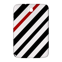 Red, black and white lines Samsung Galaxy Note 8.0 N5100 Hardshell Case
