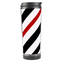Red, black and white lines Travel Tumbler