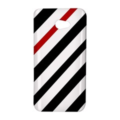 Red, black and white lines HTC Butterfly S/HTC 9060 Hardshell Case