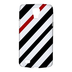 Red, black and white lines Galaxy S4 Active